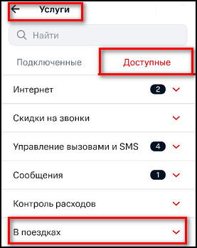 Услуги_Доступные_В поездках