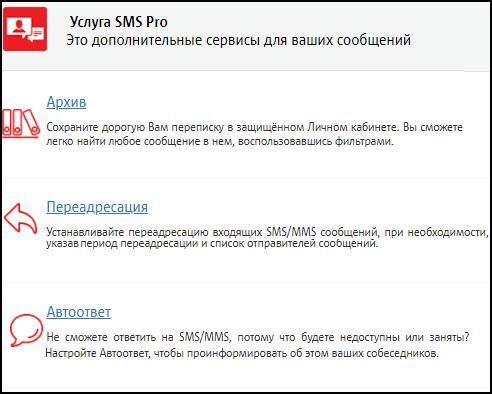 SMS Pro и переадресация